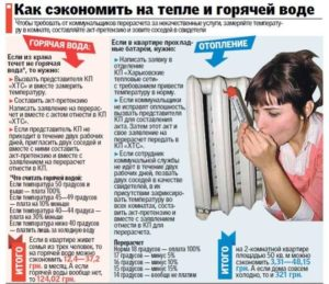 норма температуры горячей воды