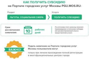 субсидии жкх для москвичей