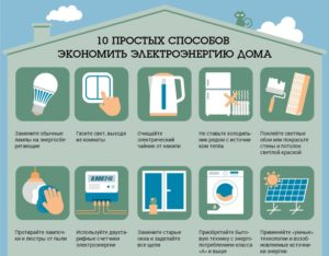 как уменьшить показания электричества