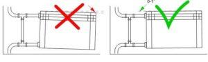 Холодные батареи из-за системы отопления